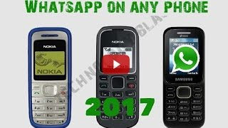 Install Whatsapp on Simple Phone | New Whatsapp 2017 on Nokia Old phone