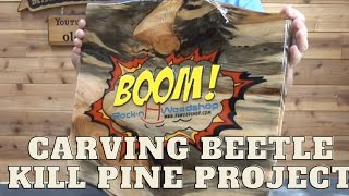 #316 Carving Rock-n H Woodshop Pt 6 Applying The Resin Epoxy