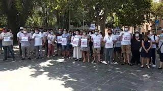 Concentración UGT-CCOO en Palma