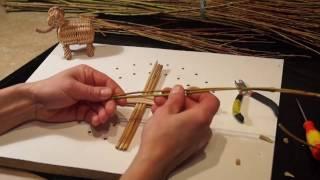 Русская ива. Урок 7. Плетение круглого донышка 3 на 3.