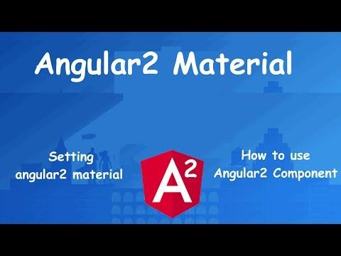 angular2 for Beginner: Angular2 Material Design