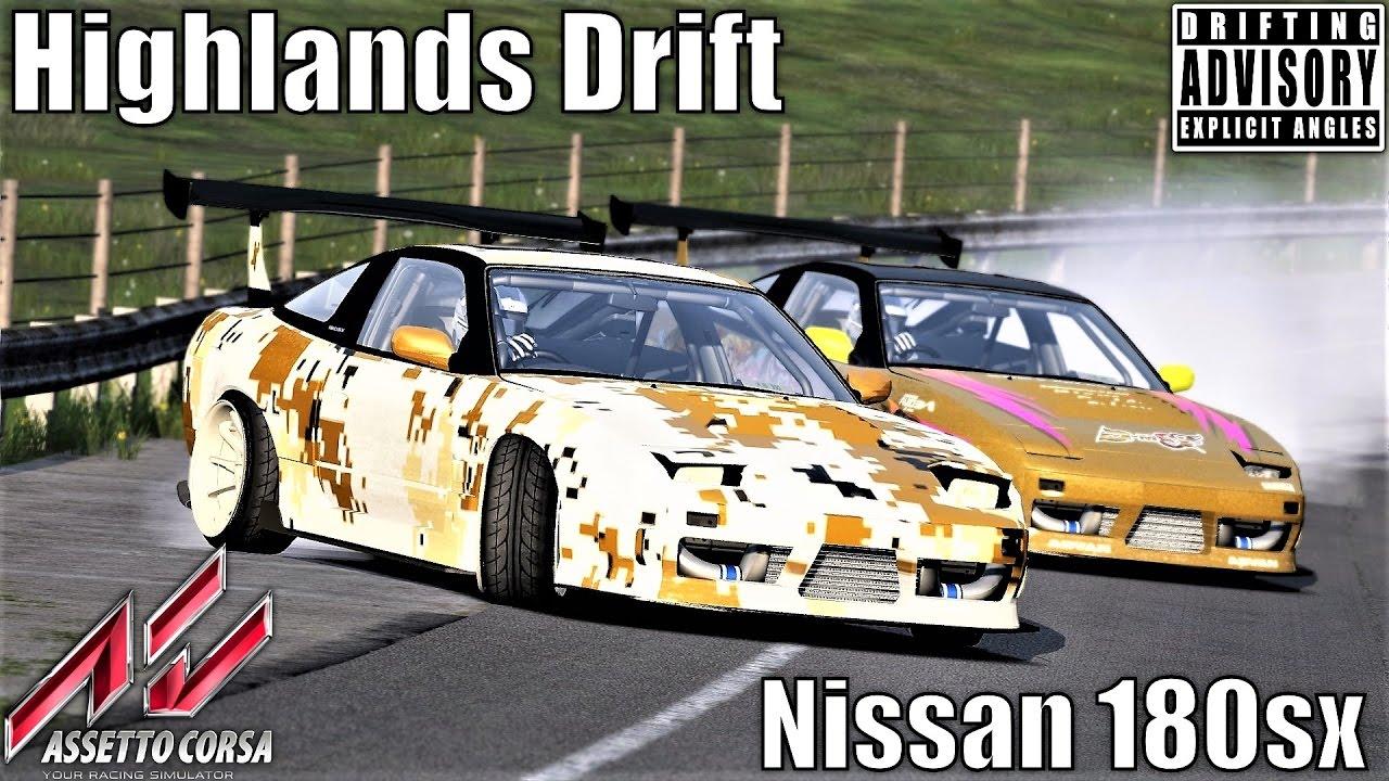 Nissan 180sx - Highlands Drift - Assetto Corsa (SDC Mod Download)