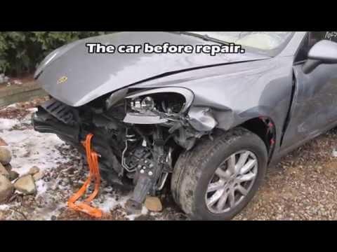 Porsche. The Front Repair Of The Body. Ремонт переда машины.
