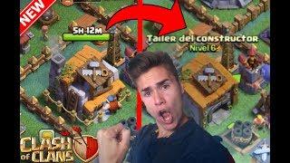 ¡¡SUBIENDO A EL TALLER DE CONSTRUCTOR 6 al MAXIMO en CLASH OF CLANS 2!! en Español