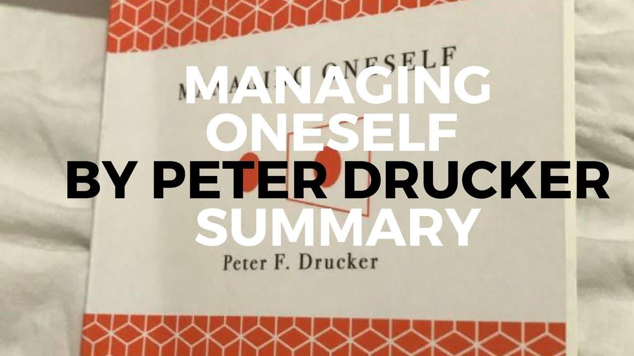peter drucker managing oneself