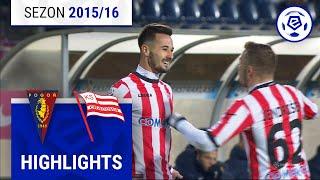 Pogoń Szczecin - Cracovia 2:2 [skrót] sezon 2015/16 kolejka 28