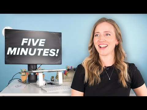 How To Organize Your Desk in 5 Minutes