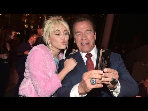 Miley Cyrus Parties With Ex Patrick Schwarzenegger's Dad Arnold in New York