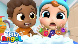 Wash Your Hands More! | A Cleaning Song | Little Angel Kids Songs