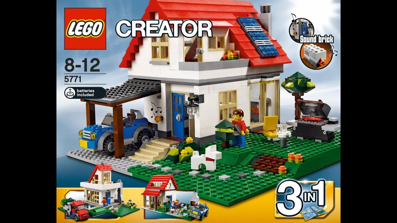 Cute Houses New Lego Creator Hillside House 3 In 1 Set 5771 Youtube