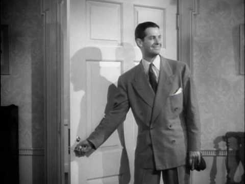 "Robert Cummings coming out of the closet in ""Princess O'Rourke"" 1943"