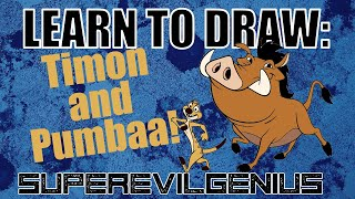 LEARN TO DRAW: timon and pumbaa!