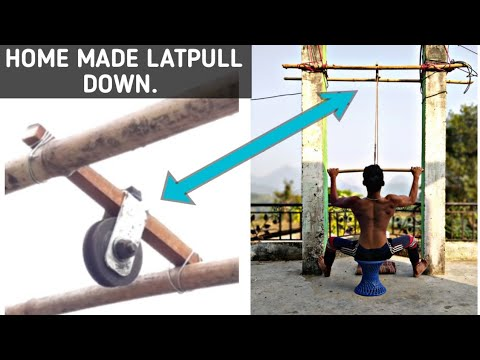 How To Make LATPULL DOWN At Home | ANISH FITNESS |