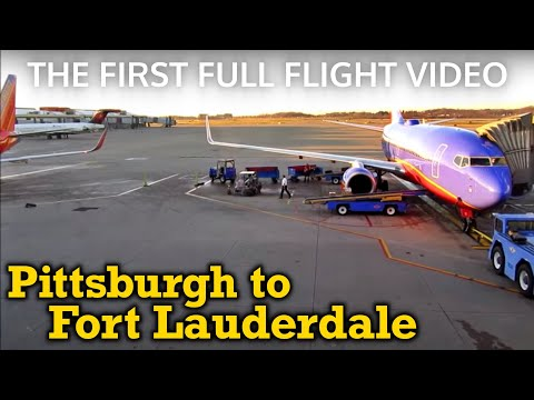 Full Flight: Southwest Airlines B737-300 Pittsburgh to Fort Lauderdale (PIT-FLL)