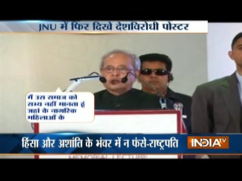 President Pranab Mukherjee: No Room in India for Intolerant Indians