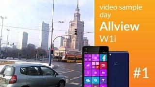Allview W1i camera test: day video 1 (480p)