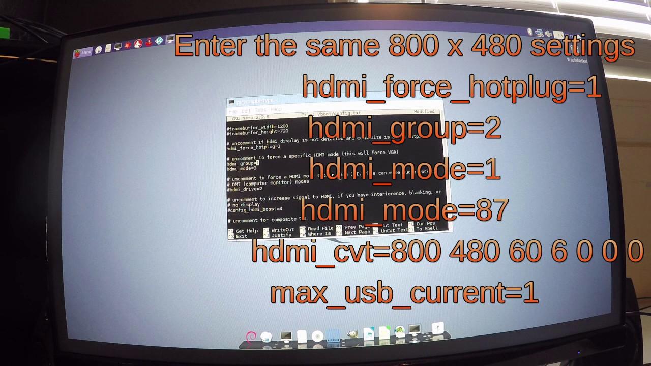 Screen setting Raspberry PI config txt