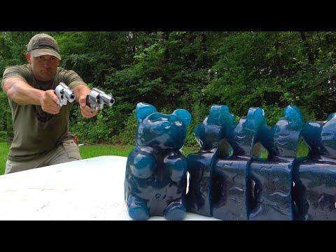 Hand Cannons vs GIANT Gummy Bears 🐻