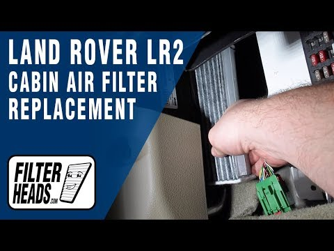 How to Replace Cabin Air Filter 2013 Land Rover LR2
