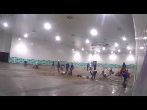 Pouring Concrete for Cold Storage -Time Lapse