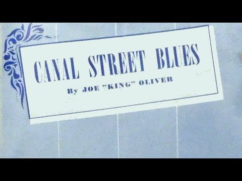 Canal street blues by king oliver 1923 blues piano