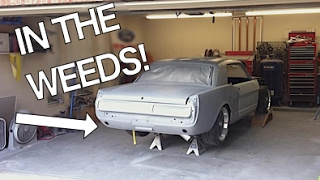 Lowered Suspension Walk Around - 65 Mustang In the Weeds! Old Classic Cars