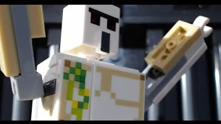 Lego Minecraft: Iron Man Beats Bone (stop-motion animation / brickfilm) comedy film