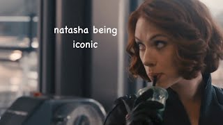 natasha romanoff being iconic for 4 minutes straight