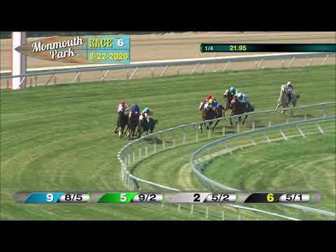 video thumbnail for MONMOUTH PARK 08-22-20 RACE 6