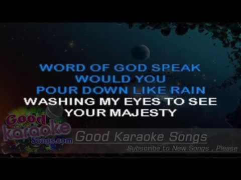 Word of God Speak - Mercy Me ( Karaoke Lyrics )