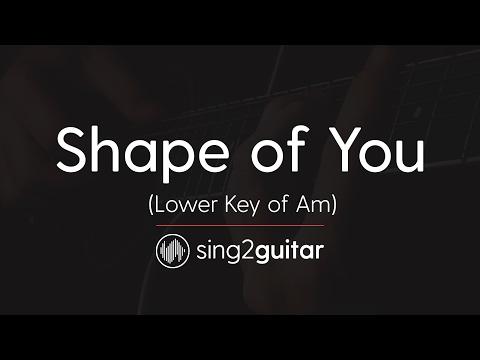 Shape of You (Lower Am) [Acoustic Guitar Karaoke] Ed Sheeran