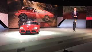 Detroit auto show: Toyota Supra Unveiling