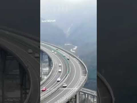 China roads avoiding mountains