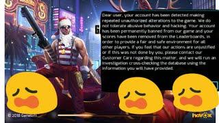 Eu fui banido  Gangstar 4 como Pote jogar de novo sem atualizar