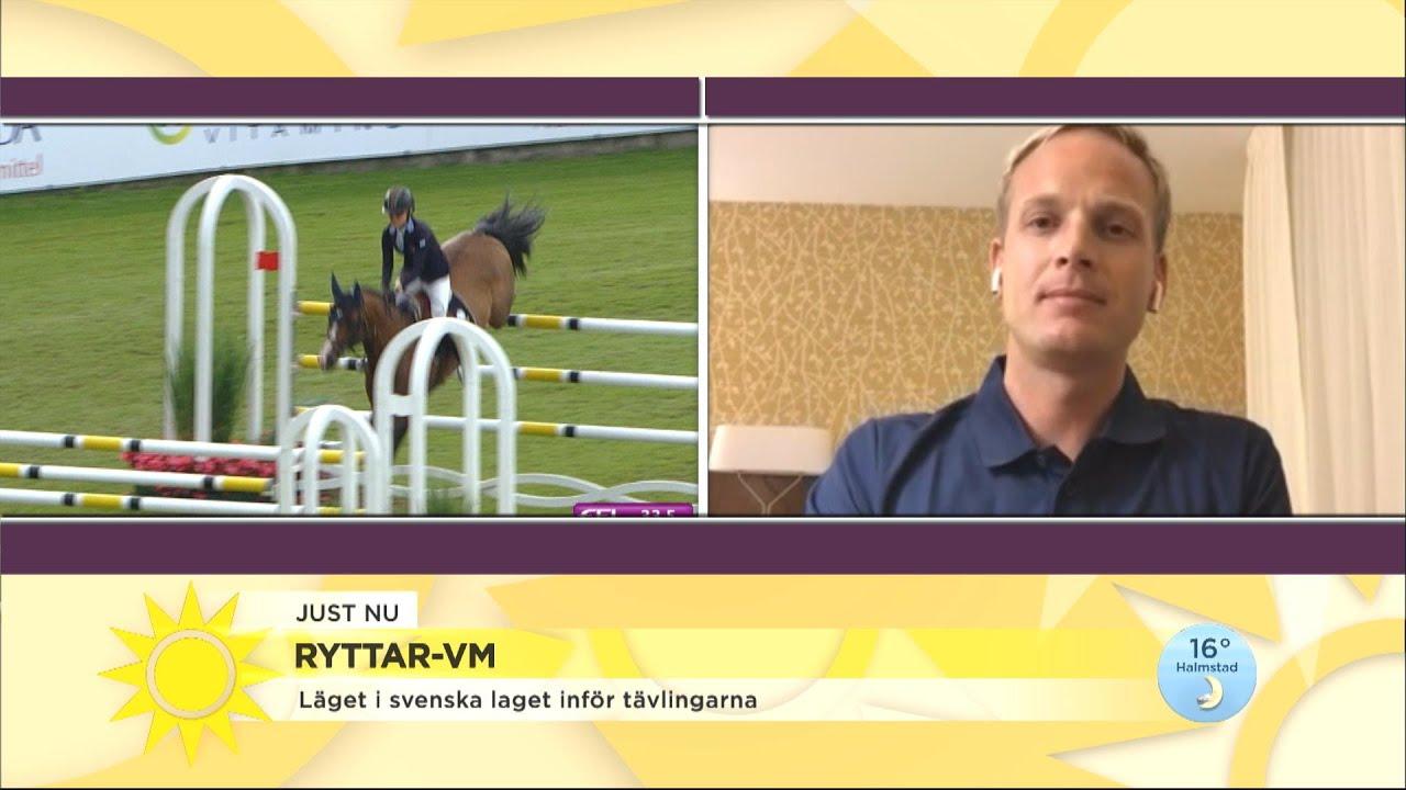 Ryttar-VM: Idag gäller det att rida snabbt och taktiskt - Nyhetsmorgon (TV4)