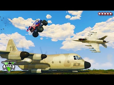 GTA 5 BEST STUNT Attempts EVER!!! | JETS, Monster Truck & EXPLOSIONS GTA 5 ONLINE! (GTA 5 Gameplay)