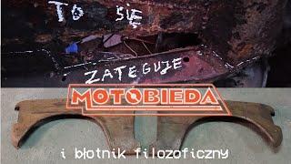 Zmiana biegów przez podłogę w Fiacie 125p i błotniki z OBRSO - polski Polski Fiat 4 - MotoBieda
