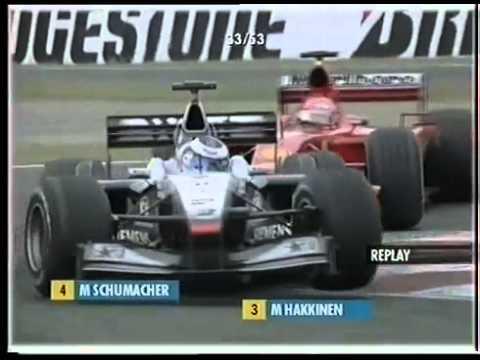 F1 Suzuka 2001 GP - Michael Schumacher chases Häkkinen