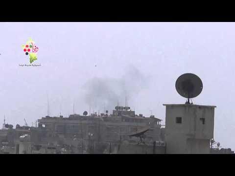 تــنــسـيــقــيــة دومــا : غارات جوية من قبل طيران عصابة الأسد تستهدف حي جوبر الدمشقي 2015.3.25