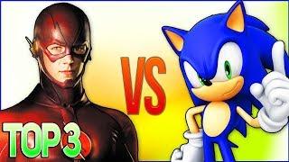 СБОРНИК РЭП МУЛЬТФИЛЬМОВ (СОНИК VS ФЛЕШ)   Top 5 Cartoon Rap Song (The Flash VS Sonic x)