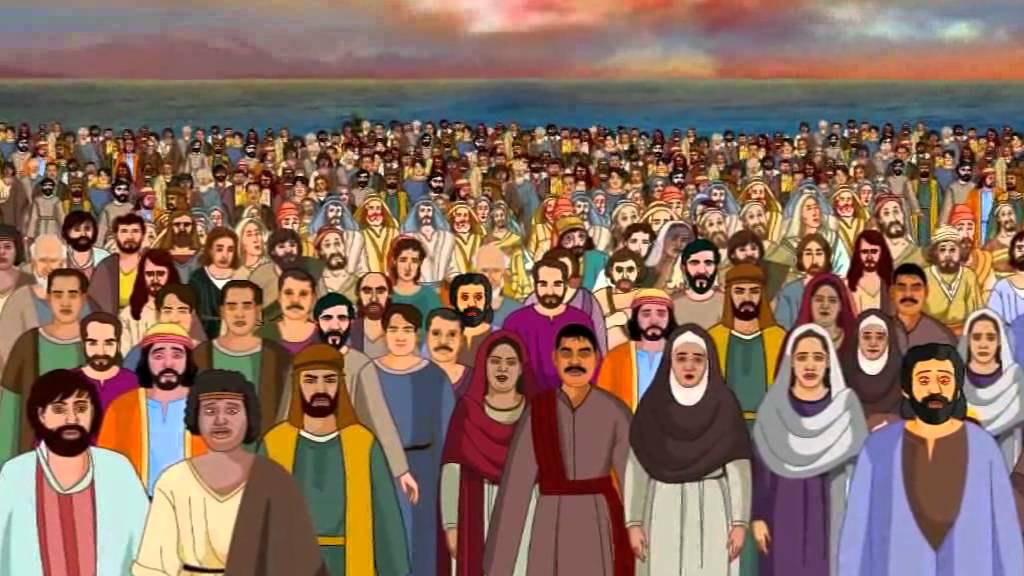Bible stories for kids - Feeding 5000 ( Jesus Cartoon Animation in ...