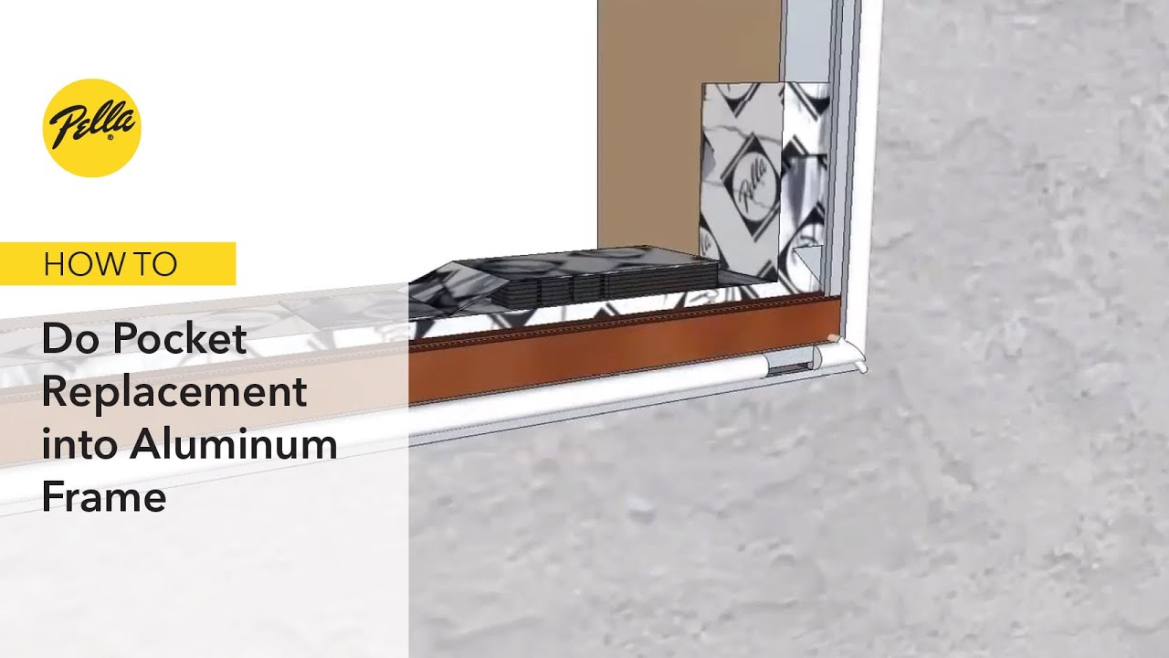 Pocket Window Replacement into Aluminum Frame - YouTube