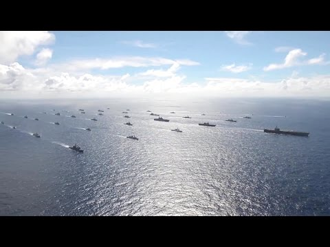 US Navy - Ships Cruising In Formation At RIMPAC 2014 [1080p]