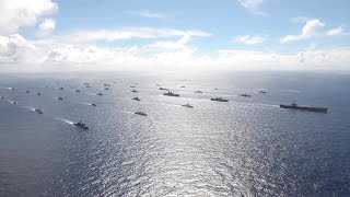 US Navy - Ships Cruising In Formation At RIMPAC 2014 [1080p]