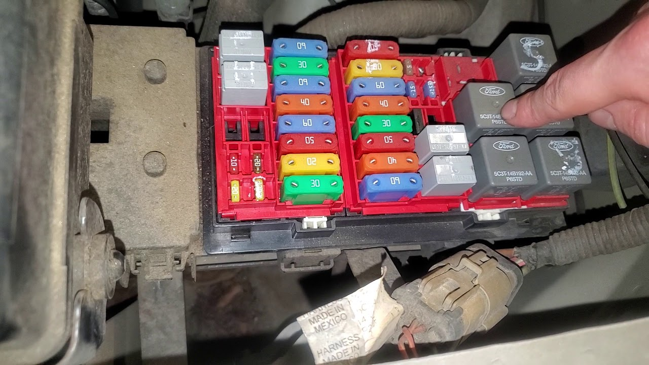 2007 Ford E 350 Relay Locations And Fuse Diagram Walkthru Youtube