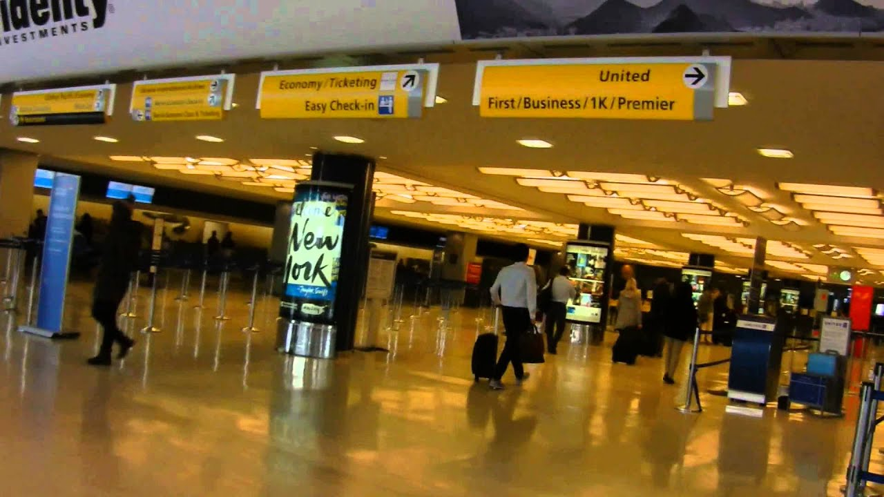 Jfk Terminal 7 Departure Area Youtube