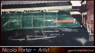 Union of South Africa ELR Steam Engine - Speed Drawing