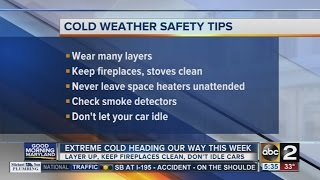 Tips for staying warm during this week's extreme cold weather