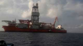 ROV winch delivery to drill ship WEST VELA offshore Curacao.