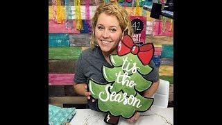 How to Paint a Christmas Tree Door Hanger with Tamara Bennett